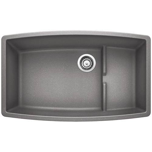 Double Sink Cascade - Silgranit® - Grey - 32 x 19.5""