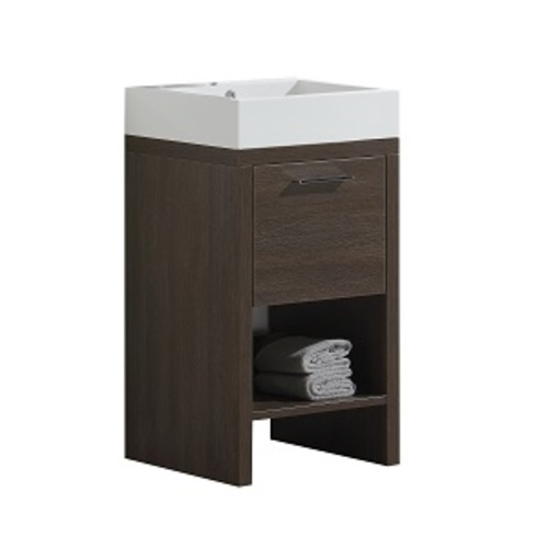 Relax Vanity Set 1 Drawer And 1 Shelf - Alamo Oak