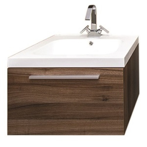 Relax Wall Mounted Vanity Set 1 Drawer - Walnut