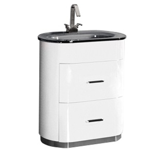 Retro Vanity Set 2 Drawers - White Lacquered