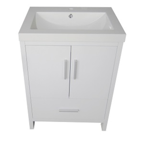 Smally Vanity Set 2 Doors And 1 Drawer - White Lacquered