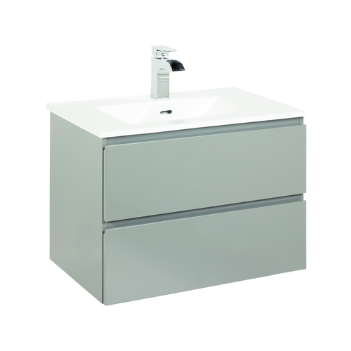 """Marleau"" Vanity with Top 23½"" - 2 Drawers  - High gloss grey"