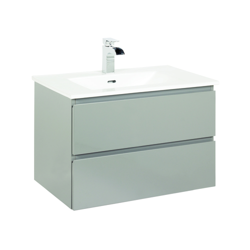 """Marleau"" Vanity with Top 29½"" - 2 Drawers  - High gloss grey"