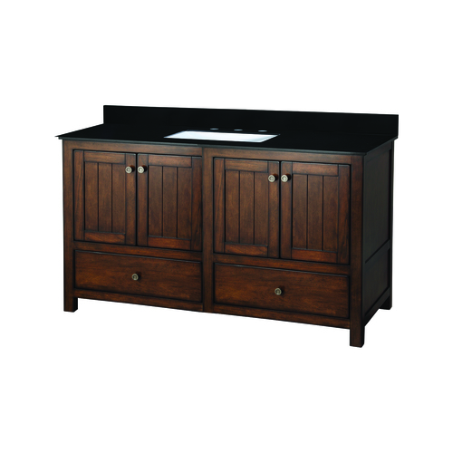 """Yates"" Vanity with Top 49"" - 2 Doors and 3 Drawers  - Rustic"