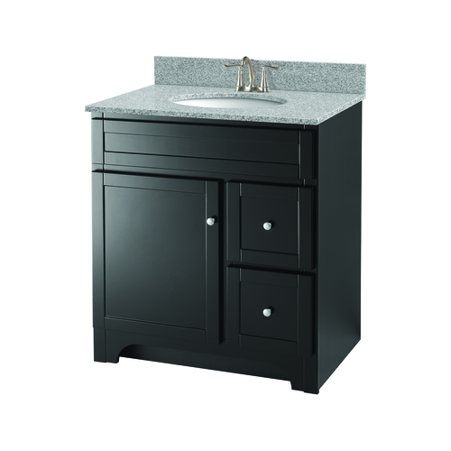 """Worthington"" Vanity without Top 30"" - 1 Door and 2 Drawers  - Espresso"