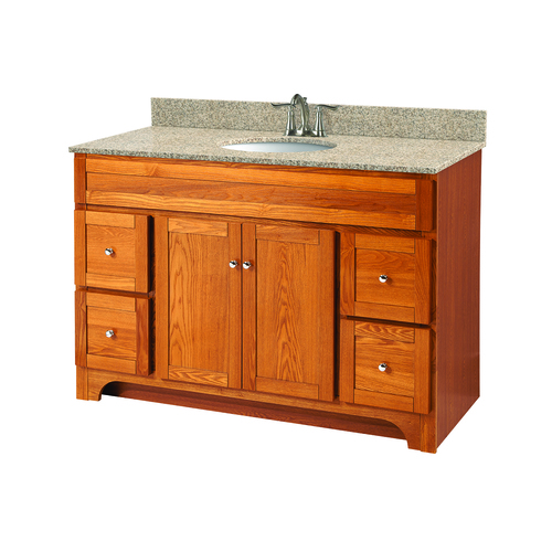 """Worthington"" Vanity without Top 48"" - 2 Doors and 4 Drawers  - Oak"