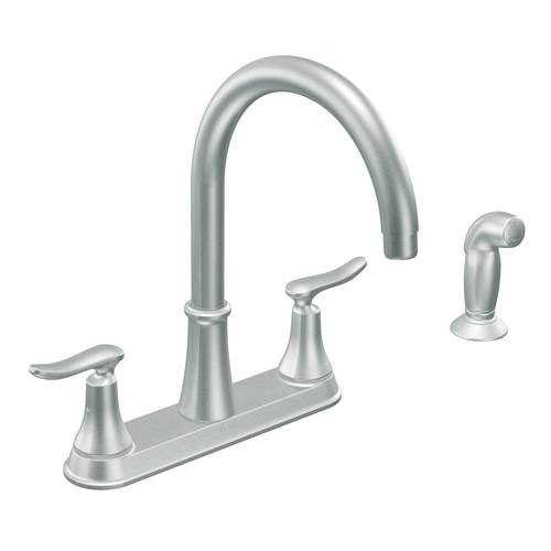"Two-Handle Kitchen Faucet - ""Quinn"" - Stainless"