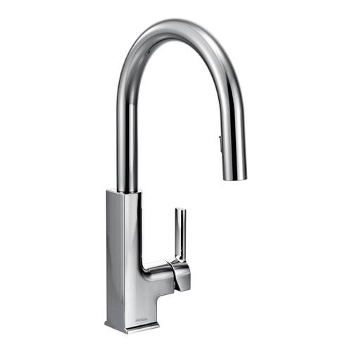 "One-Handle Pull-Down Kitchen Faucet - ""STO"" - Chrome"