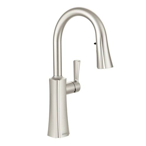 "One-Handle Pull-Down Kitchen Faucet - ""Etch"" - Stainless"