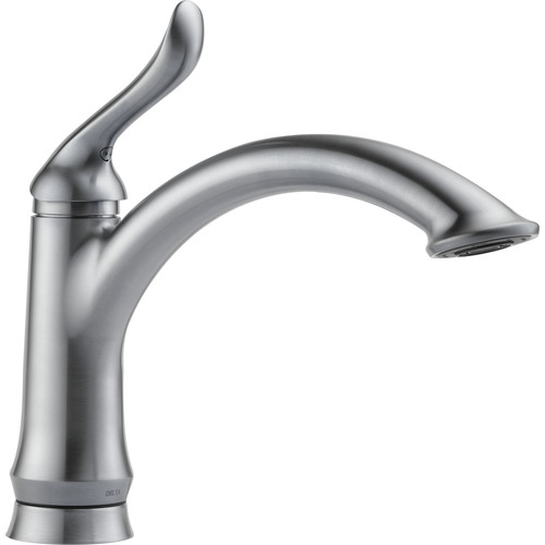 "Single Handle Kitchen Faucet - ""Linden"" - Arctic Stainless"