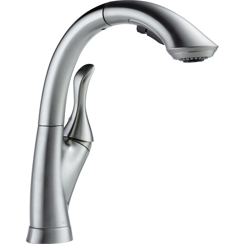"Water Efficient Kitchen Faucet - ""Linden"" - Arctic Stainless"