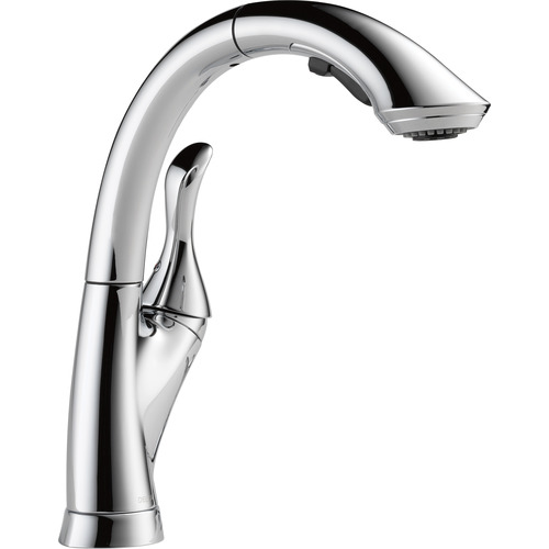 "Water Efficient Pull-Out Kitchen Faucet - ""Linden"" - Chrome"