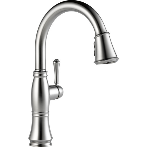 "Single Handle Kitchen Faucet - ""Cassidy"" - Arctic Stainless"