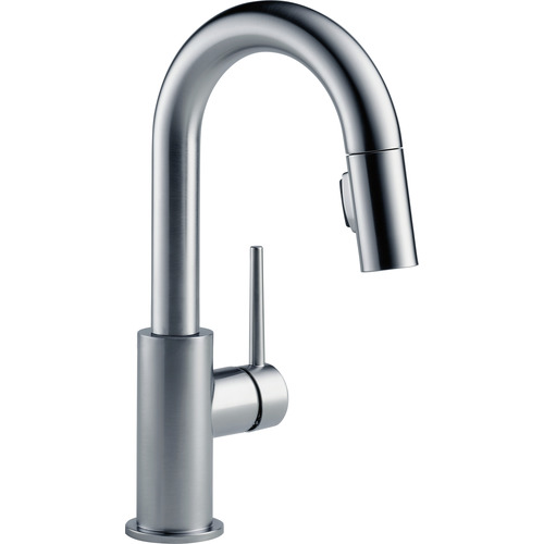"Single Handle Bar/Prep Faucet - ""Trinsic"" - Arctic Stainless"