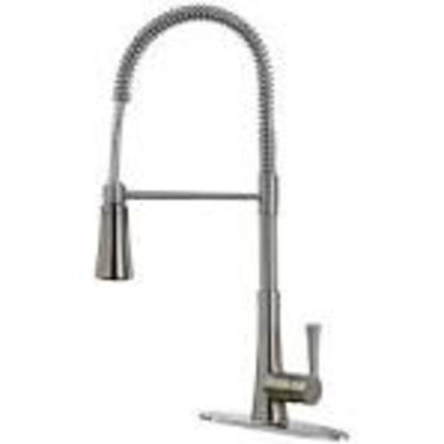 "Kitchen Pull-Down Spring Faucet - ""Zuri"" - Stainless Steel"