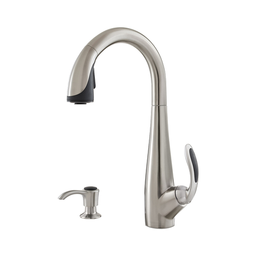 "Kitchen Pull-Down Faucet - ""Nia"" - Stainless Steel"