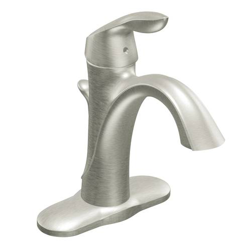 "One-Handle Bathroom Faucet - ""Eva"" - Brushed Nickel"