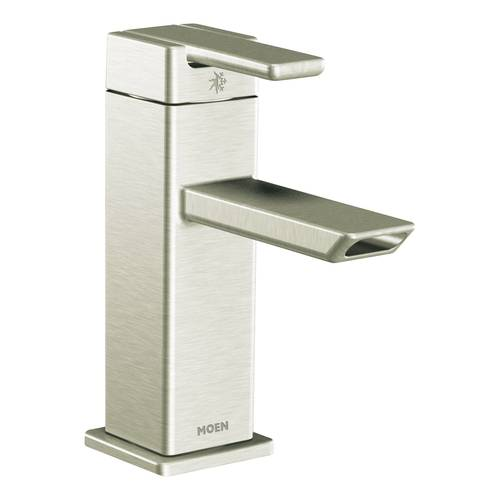 "One-Handle Bathroom Faucet - ""90 Degree"" - Brushed Nickel"