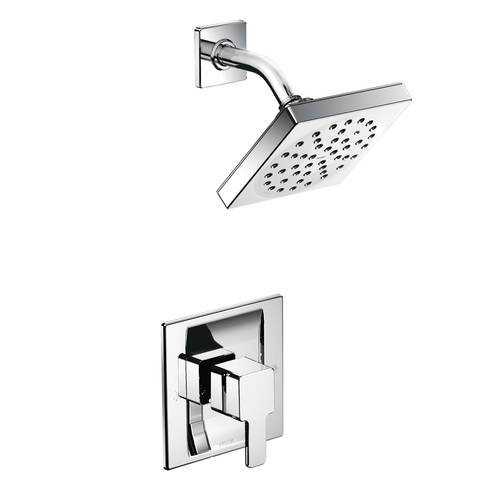 "Shower Faucet with Posi-Temp(R) - ""90 Degree"" - Chrome - Rough plumbing not included"