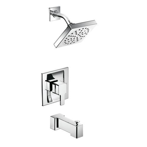 "Tub/Shower Faucet with Posi-Temp(R) - ""90 Degree"" - Chrome - Rough plumbing not included"