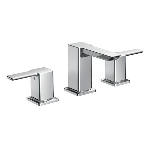 "Two-Handle Bathroom Faucet - ""90 Degree"" - Chrome - Rough plumbing not included"