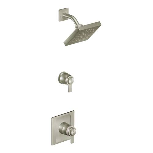 "Shower with ExactTemp(R) - ""90 Degree"" - Brushed Nickel - Rough plumbing not included"