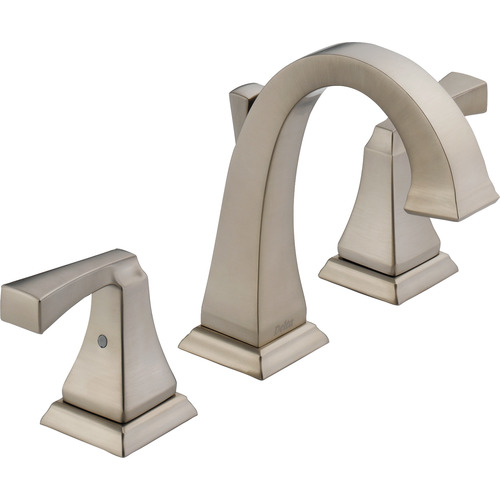 "Two-Handle Lavatory Faucet - ""Dryden"" - Stainless Steel"