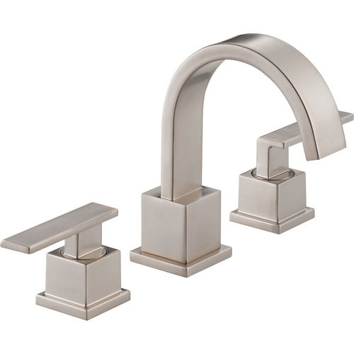 "Two-Handle Lavatory Faucet - ""Vero"" - Stainless Steel"