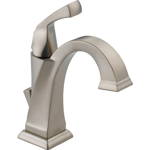 "Single-Handle Lavatory Faucet - ""Dryden"" - Stainless Steel"