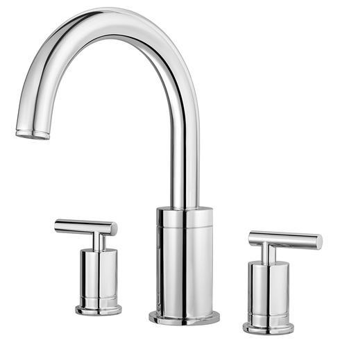 "Roman Tub Faucet - ""Contempra"" - 3-Hole - Chrome"