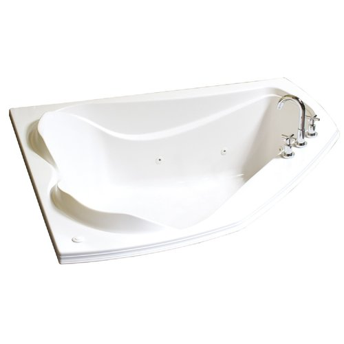 Cocoon Corner Drop-In Bathtub - Whirlpool - 60 x 54""