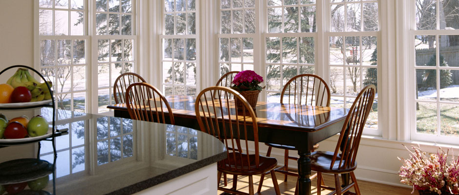 Dining Room with large windows for full natural light