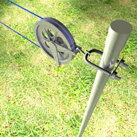 Install a clothesline post 1 rona for Lampadaire exterieur rona
