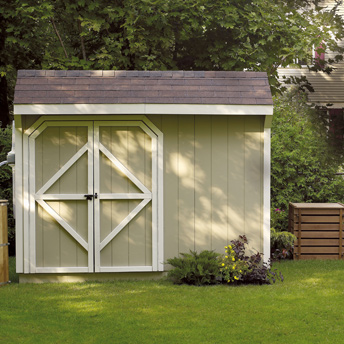 Build a sturdy foundation for your wooden shed.