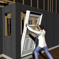 Install the garage access door