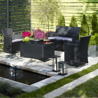 A cozy outdoor room has privacy and relates to all the senses.