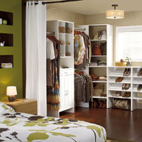 Multiple storage solutions for the master bedroom – walk-in or closet
