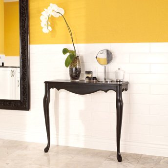 Lovely and easily made wall-mounted console table