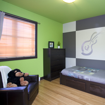 la chambre d adolescent guides de planification rona. Black Bedroom Furniture Sets. Home Design Ideas