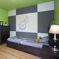 Teen rooms reflect their personalities, hobbies and personal interests.