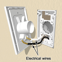 connect the low voltage wires to the backside of the inlet valve