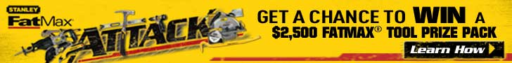 Get a chance to win a $2,500 Fatmax tool prize pack