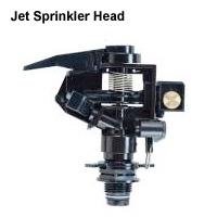 Ultimately large sprinkler heads can reach up to 80'.