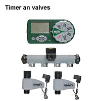 Irrigation system timers are highly recommended.