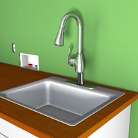 Install faucet and utility sink