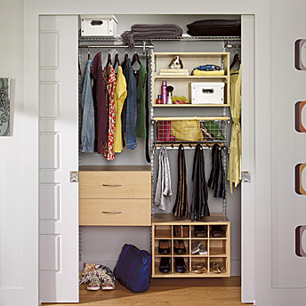 A few pieces of modular storage to increase your options.