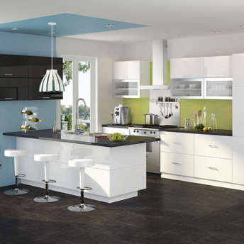 Contermporary-kitchen-white-cabinets