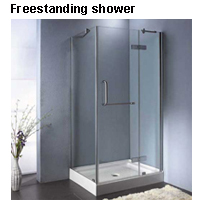 Freestanding shower