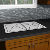 Trace the sink opening with the template