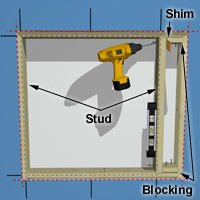 Add cripple studs for the side of your frame.